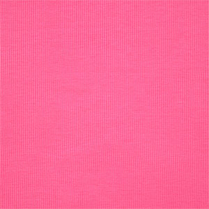 Party Pink Cotton Ribbing Knit Fabric