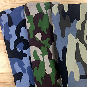 0d962ff7aba Cocoa Gray Black Camo Double Brushed Jersey Spandex Blend Knit Fabric