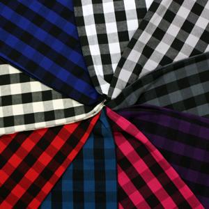 39b11635409 Black White Buffalo Plaid Cotton Spandex Knit Fabric by Girl Charlee -