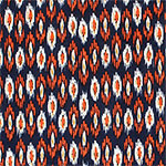 Orange Mustard Navajo Ethnic Single Spandex Knit Fabric