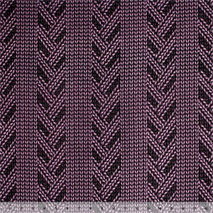 Half Yard Purple Hand Knitted Print Hacci Sweater Knit Fabric