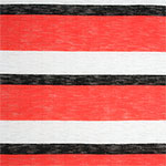 Black Red Wide Multi Stripe Hacci Knit Fabric