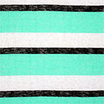 Mint Black Wide Stripe Hacci Knit Fabric