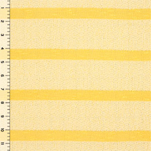 Light Yellow Tonal Stripe Hacci Knit Fabric