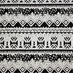Black on Gray Navajo Rows Double Knit Fabric