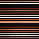 Peach Brown Black Multi Stripe Ponte de Roma Fabric