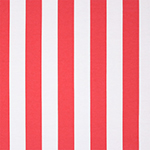 Hot Coral White Vertical Stripe Ponte de Roma Fabric