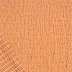 Heather Gray Orange Solid Cotton Jersey Pucker Knit Fabric