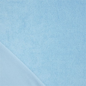 Sky Blue Solid Cotton Jersey Terry Knit Fabric