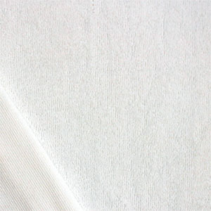 White Solid Cotton Jersey Terry Knit Fabric
