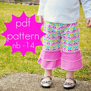 Jocole Flounce Ruffle Pants Sewing Pattern