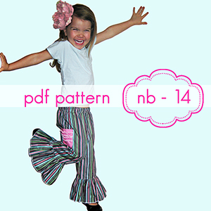 Jocole Mega Ruffle Pants Sewing Pattern