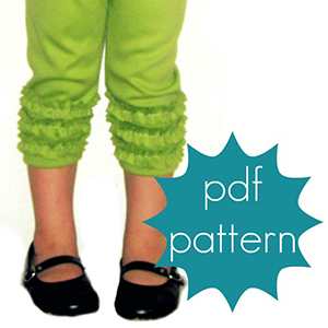 Jocole Ruffle Leggings Sizes NB to 5T Sewing Pattern