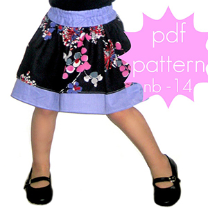 Jocole Double Layer Ruffle Skirt Sewing Pattern