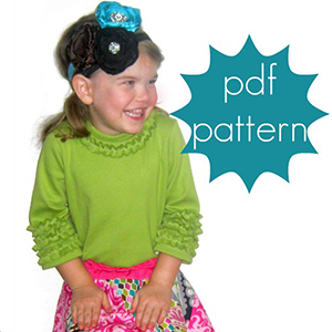 Jocole Ruffle Tee Sizes NB to 5T Sewing Pattern
