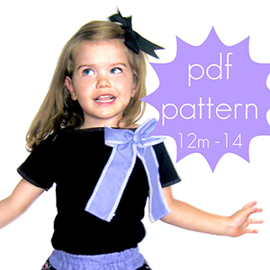 Jocole Easy Cap Sleeve Tee Sewing Pattern