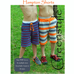 Greenstyle Hampton Boys and Girls Shorts Sewing Pattern