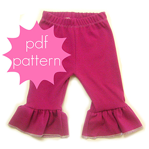 Jocole Everyday Ruffle Knit Pants Sizes NB to 5T Sewing Pattern