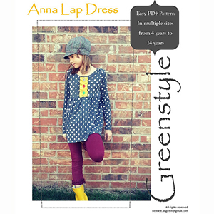 Greenstyle Anna Lap Dress Sizes 18M to 14 Sewing Pattern