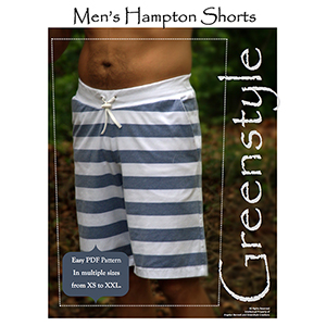 Greenstyle Hampton Mens Shorts Sewing Pattern