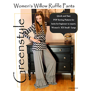 Greenstyle Women\'s Willow Ruffle Pants Sewing Pattern