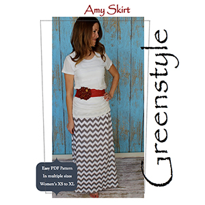 Greenstyle Women\'s Amy Maxi Skirt Sewing Pattern
