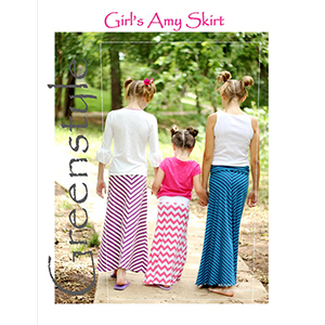 Greenstyle Girl\'s Amy Maxi Skirt Sewing Pattern