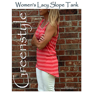Greenstyle Women\'s Lacy Slope Tank Sewing Pattern