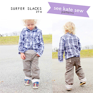 See Kate Sew Surfer Slacks Lounge Pants Sewing Pattern