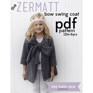 See Kate Sew Zermat Bow Swing Coat Sewing Pattern
