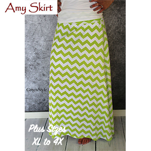 e4d2c56dcc Greenstyle Women's Amy Maxi Skirt Extended Plus Sizes Sewing Pattern -