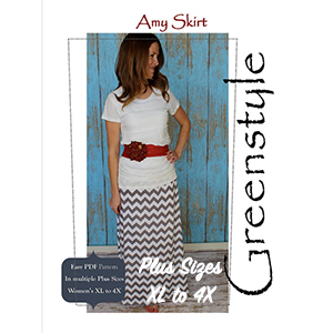 Greenstyle Women\'s Amy Maxi Skirt Extended Plus Sizes Sewing Pattern