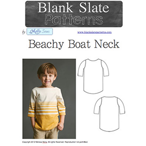 Blank Slate Patterns Beachy Boatneck Top Sewing Pattern