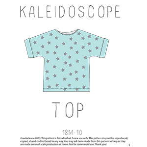 See Kate Sew Kaleidoscope Top Sewing Pattern