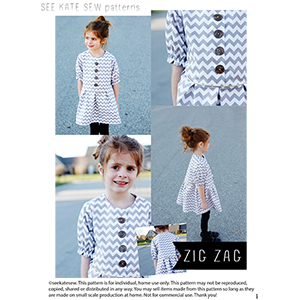See Kate Sew ZigZag Dress Sewing Pattern