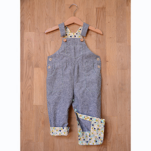 Two Stitches Frankie Dungarees Sewing Pattern