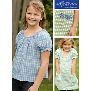 Indygo Junction Children\'s Peasant Top Sewing Pattern