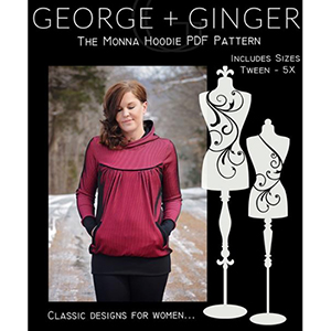 George and Ginger Monna Hoodie Sewing Pattern
