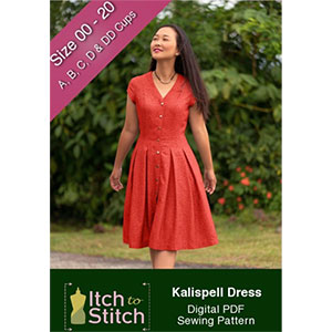 Itch to Stitch Kalispell Dress Sewing Pattern