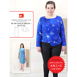 Liesl and Co. Rush Hour Blouse and Dress Plus Size Sewing Pattern