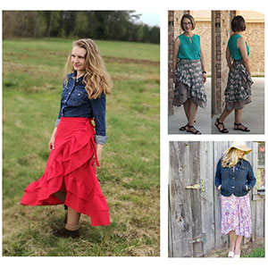 Eunoia Patterns Paradise Wrap Skirt Sewing Pattern