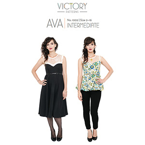 Victory Patterns Ava Dress and Top Sewing Pattern