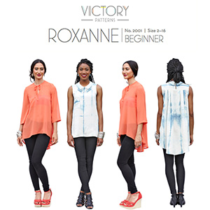 Victory Patterns Roxanne Blouse Sewing Pattern