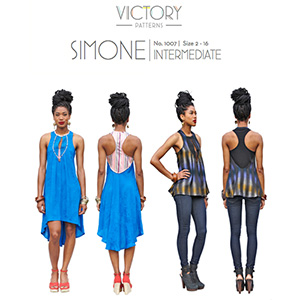 Victory Patterns Simone Dress and Top Sewing Pattern
