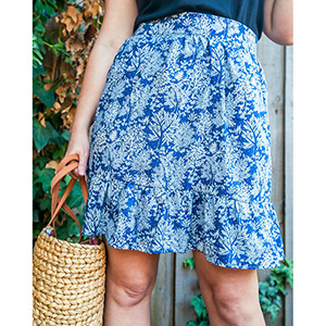 Blue Ginger Doll April Gathered Skirt Sewing Pattern