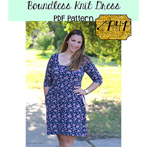 Patterns For Pirates Boundless Knit Dress Sewing Pattern