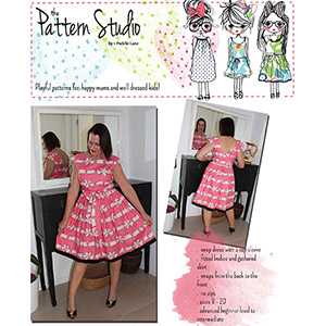1 Puddle Lane Holly Wrap Dress Sewing Pattern