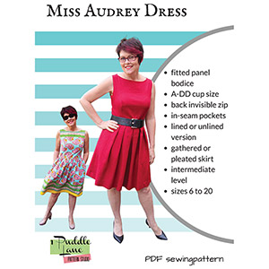 1 Puddle Lane Miss Audrey Dress Sewing Pattern
