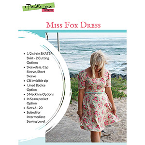 1 Puddle Lane Miss Fox Dress Sewing Pattern