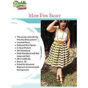 1 Puddle Lane Miss Fox Skirt Sewing Pattern